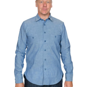Blue Blanket – S06 Light Indigo Chambray Shirt – 6 oz