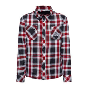 King Kerosin Garage Built checkered shirt antracite/white/re