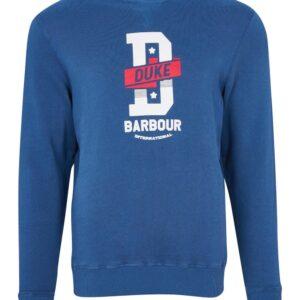 Barbour International famous Duke Sweat-Mid Blue