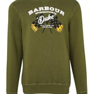 Barbour International Famous Duke Sweat-Vintage Green
